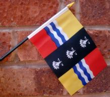 HAND WAVING FLAG (SMALL) - Bedfordshire